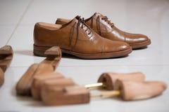 Ботинки людей и stratchers ботинка Стоковое фото RF