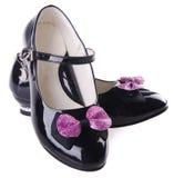 Ботинки для девушок на предпосылке Стоковые Фото