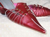 ботинки 1 красного цвета стоковая фотография rf