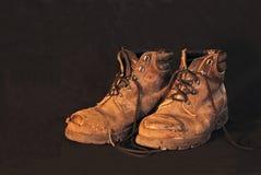 ботинки 1 старые стоковое фото
