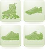 ботинки 2d olivine икон установленные резвятся квадрат бесплатная иллюстрация