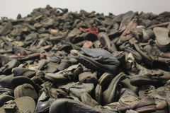 Ботинки Austwitz Стоковые Фотографии RF