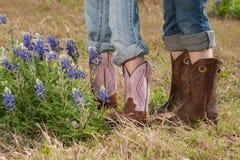 Ботинки & Bluebonnets Техаса Стоковое Изображение