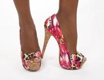 ботинки fuchsia картины ног сексуальные стоковое изображение rf