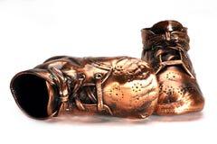 ботинки keepsake младенца бронзовые Стоковые Изображения RF
