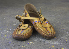 ботинки moccasin Стоковое Фото