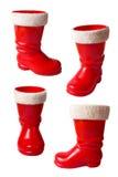 Ботинки Santa Claus изолированные на белизне Стоковая Фотография