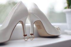 ботинки wedding белизна Стоковая Фотография RF