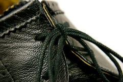 ботинок детали кожаный Стоковое Фото