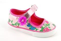 ботинок детей цветастый Стоковое Фото