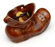 Ботинок лепрекона с монетками Стоковые Изображения