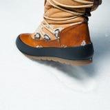 Ботинок зимы в снежке Стоковые Фото