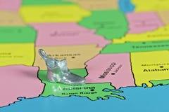 Ботинок игрушки на положении Луизианы Стоковое Изображение