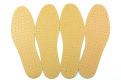 ботинок коричневых insoles кожаный Стоковые Фотографии RF