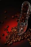 ботинок кристалла кофе Стоковое фото RF
