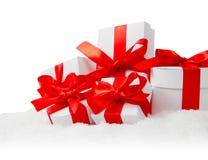 Ботинок, крышка и подарки Санты Стоковое Фото