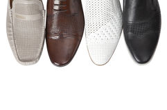 ботинок людей s печатает разнообразие на машинке Стоковое Изображение RF