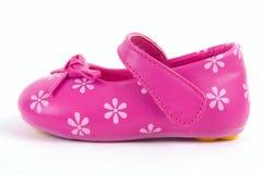 ботинок младенца кожаный розовый Стоковая Фотография