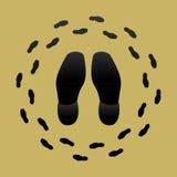 ботинок печатей Стоковое Изображение RF