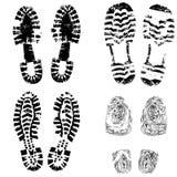 ботинок печати ноги ребенка стоковые изображения rf