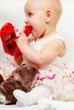 Ботинок ребёнка сдерживая стоковое фото rf