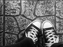ботинок спорта на улице Стоковое Изображение