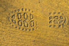 Ботинок следа ноги Стоковое Изображение RF