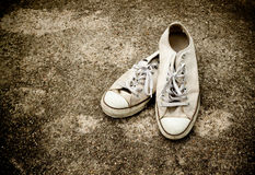 ботинок холстины старый Стоковая Фотография
