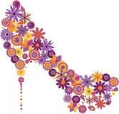 ботинок цветков Стоковая Фотография