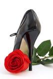 ботинок черного красного цвета розовый стоковые изображения
