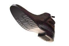 ботинок чернокожего человек s глянцеватый Стоковая Фотография RF