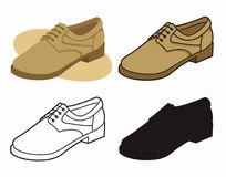 ботинок 4 мужчин Стоковые Фото