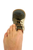 ботинок painfull Стоковое Изображение RF