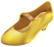Ботинок ` s Золушкы золотой Стоковое фото RF