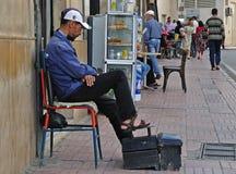 ботинок shiner человека Африки северный Стоковое Фото