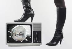 ботинок tv Стоковое Изображение RF