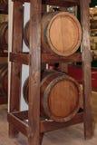 2 бочонка больших дуба деревянных Стоковые Фото