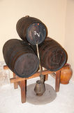 3 бочонка вина Стоковое Изображение