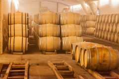 Бочонки вина дуба Стоковое фото RF