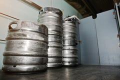 Бочонок бочонка пива 3 металлов Стоковая Фотография RF