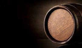 Бочонок на коричневом цвете Стоковое Фото