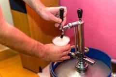 Бочонок пива металла Стоковые Фото