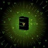 бочонок радиоактивный Стоковое Фото