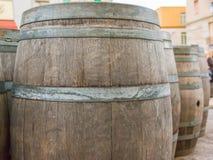 Бочонок дуба деревянный Стоковое Фото