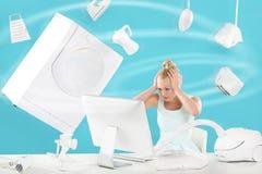 Боязнь высоты покупательной способности - онлайн покупки Стоковые Изображения RF