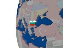 Болгария с национальным флагом Стоковые Изображения