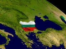 Болгария с флагом на земле Стоковая Фотография RF
