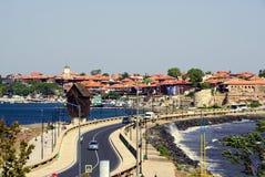Болгария nesebar Взгляд городка Nessebar старого Стоковая Фотография RF