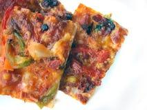 Болгарская изолированная пицца Стоковые Фотографии RF