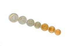 Болгарские монетки стоковая фотография